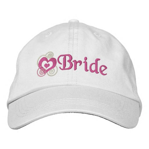 Bride Bridal Embroidery Embroidered Baseball Caps