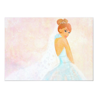 Bride Bridal Portrait Invitation