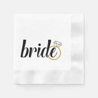 """""""Bride"""" Bridal Shower Napkins Paper Napkins"""