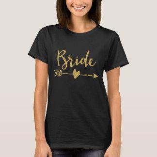 Bride | Bride Tribe Black T-Shirt