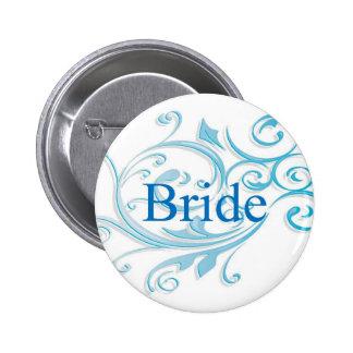 Bride button in blue