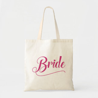 Bride Calligraphic Pink Yarrow Tote Bag