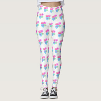 Bride Candy Hearts Valentine Leggings