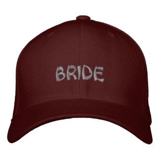 Bride cap in red maroon with oriental script
