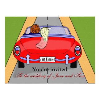 Bride Car 6.5x8.75 Paper Invitation Card