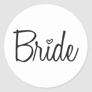 Bride Classic Round Sticker