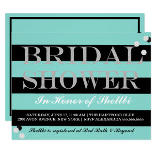 BRIDE & CO Black & Tiffany Blue Bridal Shower Card