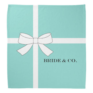 BRIDE & CO. Blue And White Personalize Bandanas