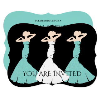 BRIDE & CO. Blue Tiffany Bridal Shower Invitation