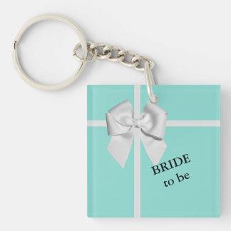 BRIDE & CO Blue Tiffany Bride to Be Keychain