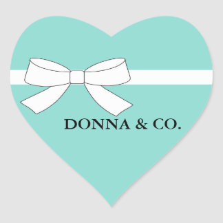 BRIDE & CO. Blue Tiffany Party Heart Stickers