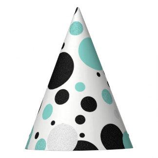 BRIDE & CO. Blue Tiffany Polka Dot Party Hat