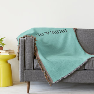 BRIDE & CO. Blue Tiffany Throw Blanket