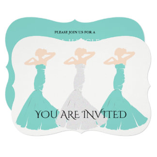 BRIDE & CO Blue & White Wedding Shower Invitation