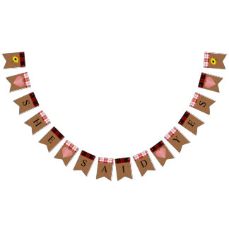BRIDE & CO Fall Autumn Bride Party Bunting Banner