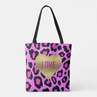 BRIDE & CO Gold Heart LOVE Party Tote Bag