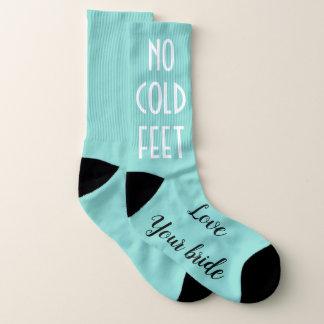 BRIDE & CO Groom No Cold Feet Wedding Party Socks 1
