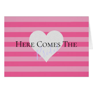 BRIDE & CO Here Comes The Bride Note Card