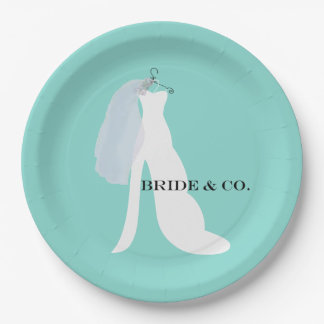 BRIDE & CO Here Comes The Bride Party Paper Plates 9 Inch Paper Plate