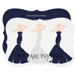 BRIDE & CO Navy Bridesmaid Bridal Party Invitation