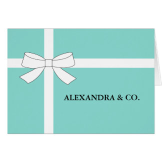 BRIDE & CO Personalize Teal Blue Party Note Card