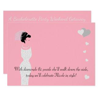 BRIDE & CO Pink Bride Party Invitation