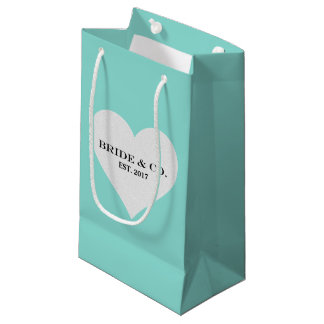 BRIDE & CO Shower Silver Heart Party Gift Bag