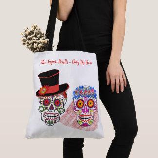 BRIDE & CO Sugar Skulls Bride Groom Beach Tote Bag
