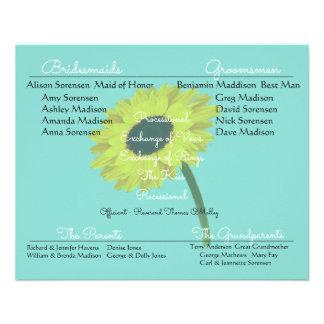 BRIDE & CO Sunflower Bride Wedding Program Flyers