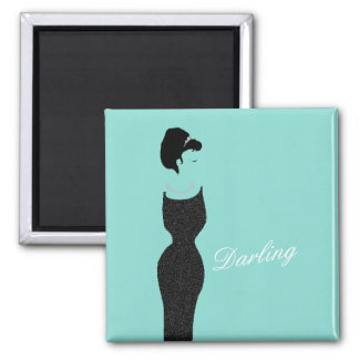 BRIDE & CO Teal Blue Little Black Dress Magnet