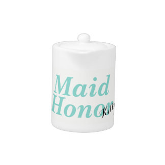 BRIDE & CO Teal Blue Maid Of Honor Party Teapot