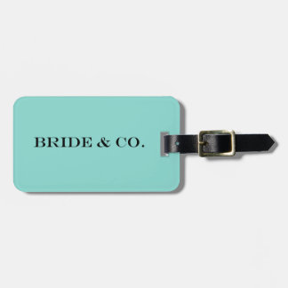 BRIDE & CO Teal Blue Travel Luggage Tag