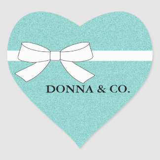 BRIDE & CO. Tiffany Party Shimmer Heart Stickers