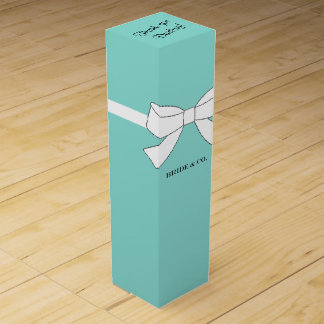 BRIDE & CO. Tiffany Ribbon Party Wine Box