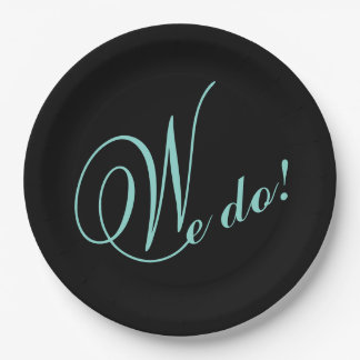 BRIDE & CO Tiffany Wedding We DO! Paper Plates