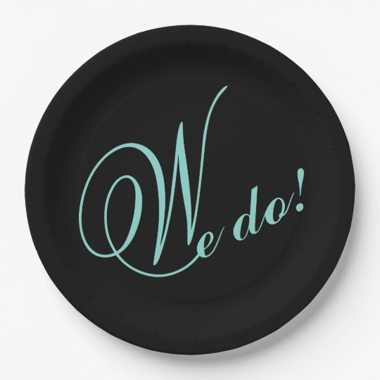BRIDE & CO Tiffany Wedding We DO! Paper Plates 9 Inch Paper Plate