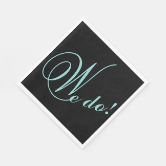BRIDE & CO. Tiffany Wedding We DO! Party Napkins Disposable Napkin