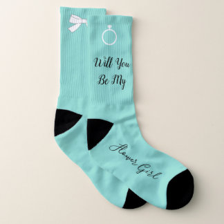 BRIDE & CO Will You Be My Flower Girl Party Socks 1