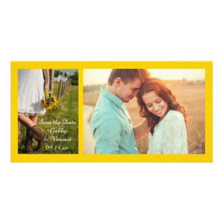 Bride, Cowboy Boots and Sunflowers Save the Date Personalized Photo Card