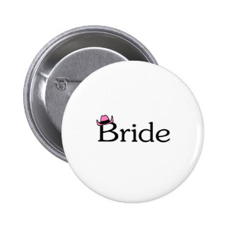 Bride Cowboy Hat Button