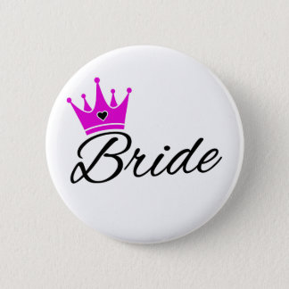 Bride Crown Bachelorette Party 2 Inch Round Button
