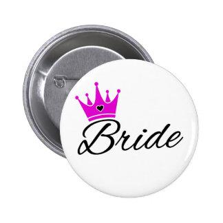 Bride Crown Bachelorette Party 2 Inch Round Button