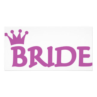 bride crown icon photo greeting card
