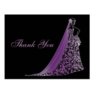 Bride decorated simple Thank You Card Post Card
