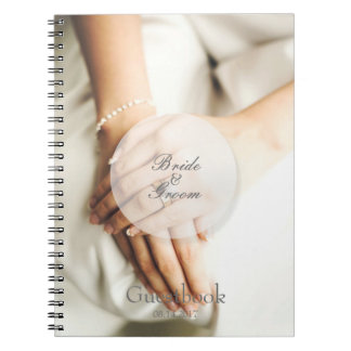 Bride diamond ring editable wedding guest book