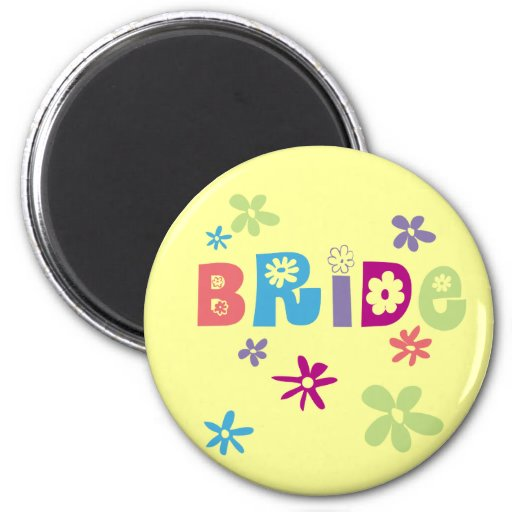 Bride Favors and Gifts Fridge Magnets
