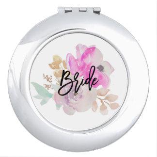 Bride Floral Compact Mirror Gift