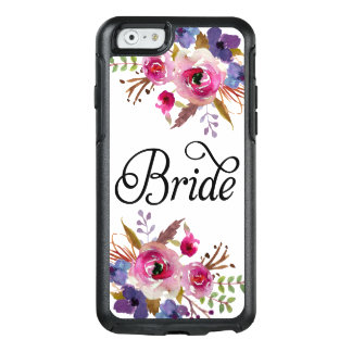 Bride Floral Vintage Watercolors Modern Script OtterBox iPhone 6/6s Case