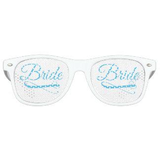 Bride Flourish Blue Retro Sunglasses