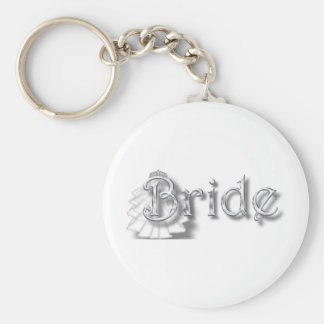 ♥Bride - for Bachlorette Party, Shower, Honeymoon♥ Basic Round Button Keychain